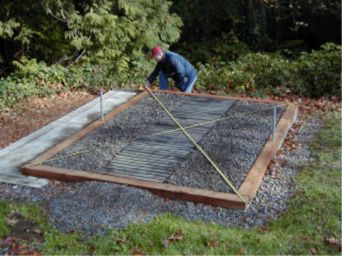 Building A Diy Greenhouse Foundation The Do It Yourself